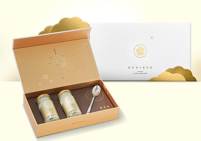 24K極濃白金潤燕盞-經典二入禮盒
